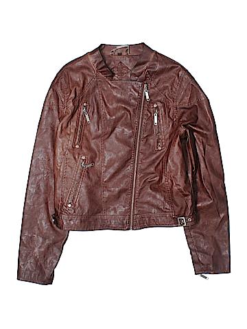 JouJou Faux Leather Jacket Size XL