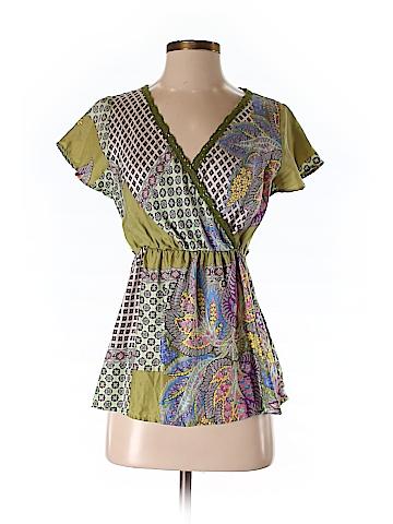 Hartford Short Sleeve Silk Top Size 3