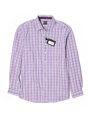 Ike Behar Long Sleeve Button-Down Shirt Size 16