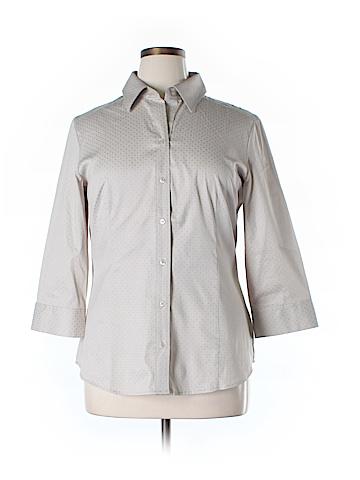 New York Yoki Collection Long Sleeve Button-Down Shirt Size XL