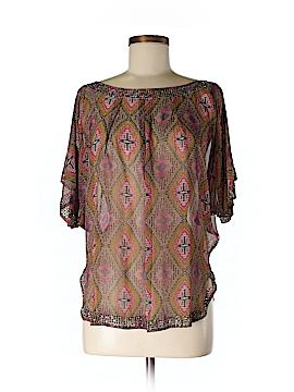 I. Madeline Short Sleeve Blouse Size M