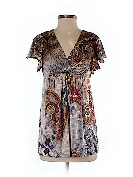 Single Los Angeles Short Sleeve Silk Top Size S