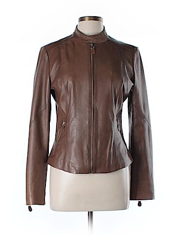 Weekend Max Mara Leather Jacket Size 10
