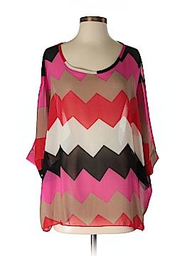 Allegra K 3/4 Sleeve Blouse Size S