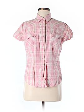 Shyanne Short Sleeve Button-Down Shirt Size M