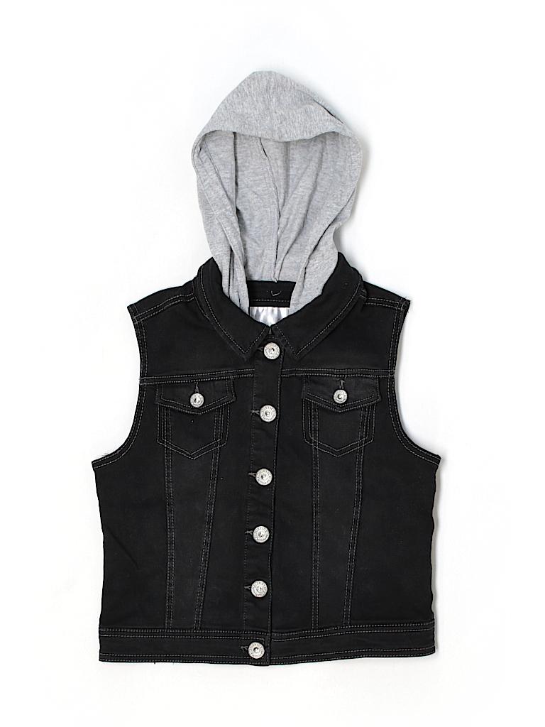 21a47f9daa Justice Color Block Black Denim Jacket Size 12 - 14 - 80% off