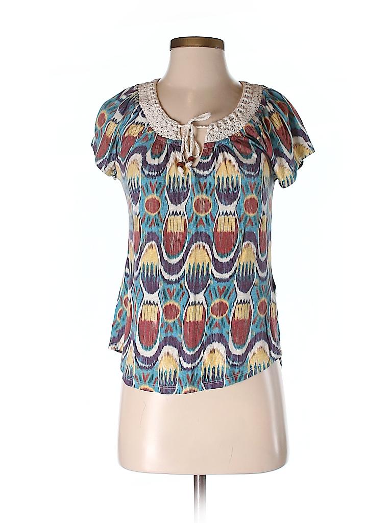 Lucky Brand Women Short Sleeve Top Size S