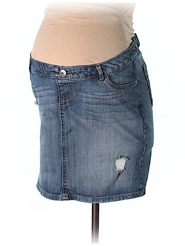 Indigo Blue Denim Skirt Size S (Maternity)