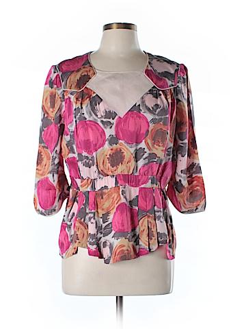 BCBGMAXAZRIA 3/4 Sleeve Silk Top Size L
