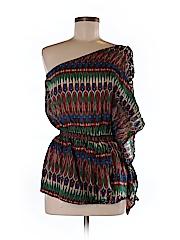 Very J Short Sleeve Silk Top Size M