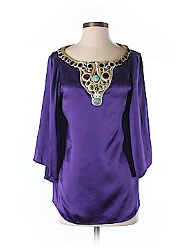 Catherine Malandrino 3/4 Sleeve Silk Top Size 6