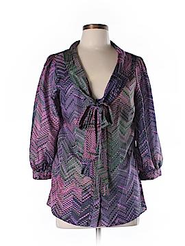 Shoshanna 3/4 Sleeve Silk Top Size 10