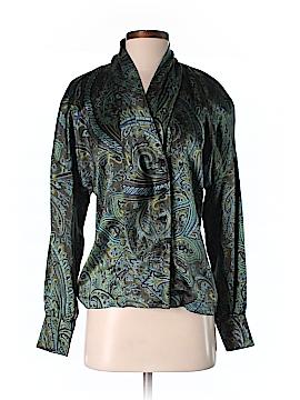 Escada Long Sleeve Silk Top Size 34 (EU)
