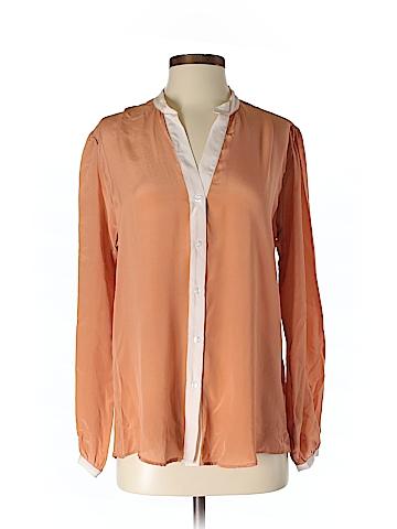 Zoe & Sam Long Sleeve Silk Top Size S