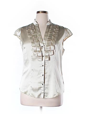 New York & Company Short Sleeve Blouse Size 14