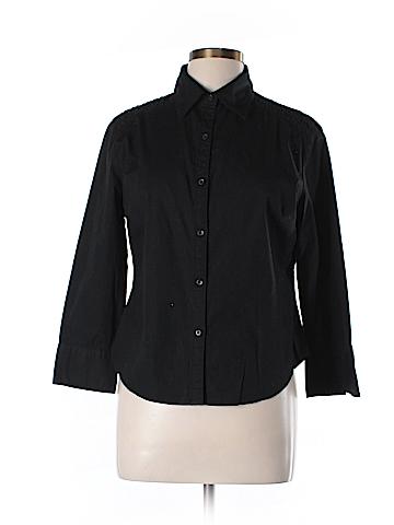 Giordano/Ladies Long Sleeve Button-Down Shirt Size XL