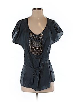 Biya Short Sleeve Silk Top Size S