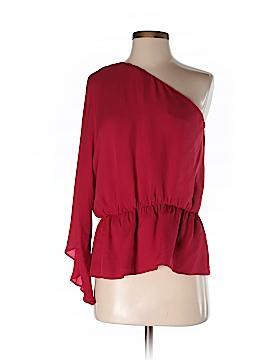 Halston Heritage Long Sleeve Silk Top Size 4