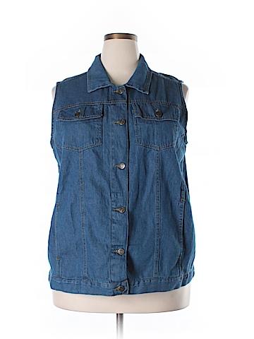 Woman Within Denim Vest Size 18 (Plus)