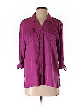 JM Collection 3/4 Sleeve Button-Down Shirt Size 12 (Petite)