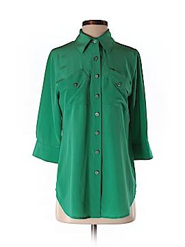 Soft Surroundings 3/4 Sleeve Silk Top Size XS (Petite)