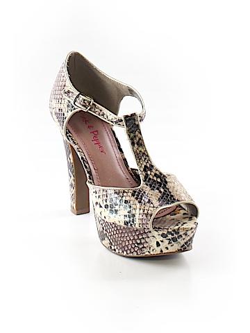 Pink & Pepper Heels Size 8 1/2