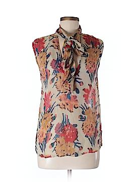 Winter Kate Short Sleeve Silk Top Size XS