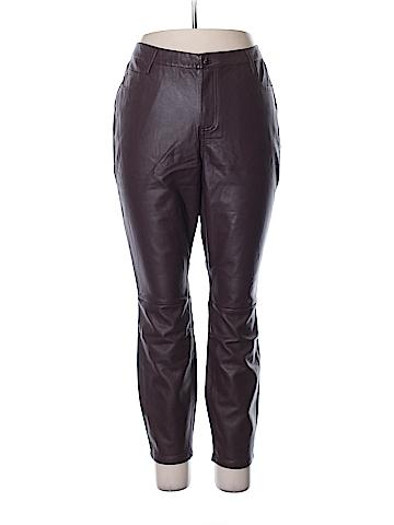 Just Fab Faux Leather Pants Size 2X (Plus)