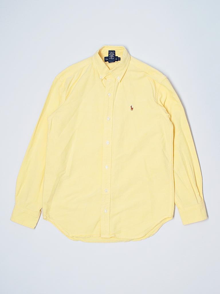 Ralph Lauren 100 Cotton Solid Yellow Long Sleeve Button