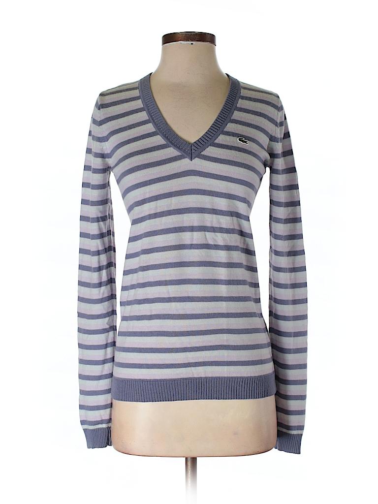 lacoste stripes purple pullover sweater size 36 eu 90 off thredup. Black Bedroom Furniture Sets. Home Design Ideas