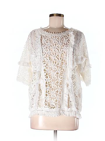 Yoana Baraschi Women Short Sleeve Blouse Size M