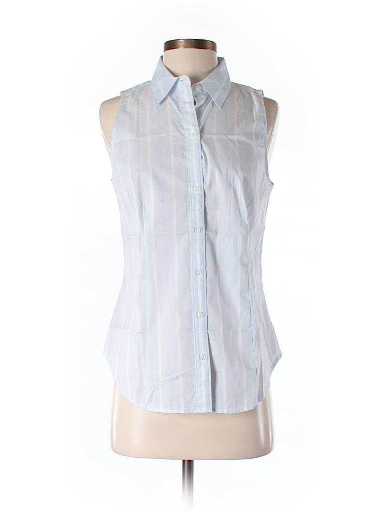Ann taylor sleeveless button down shirt 65 off only on for Sleeveless cotton button down shirts