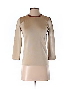 Ralph Lauren Black Label Long Sleeve Silk Top Size M
