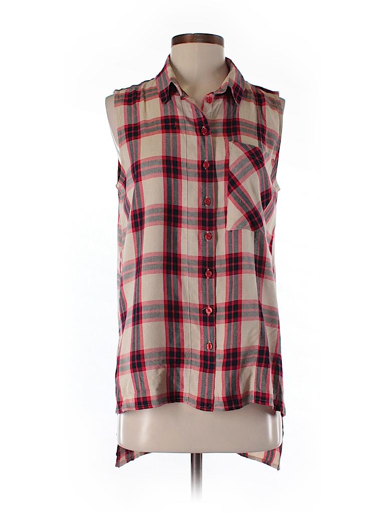 Velvet heart sleeveless button down shirt 80 off only for Red velvet button up shirt