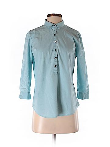 New York & Company Women 3/4 Sleeve Button-Down Shirt Size S