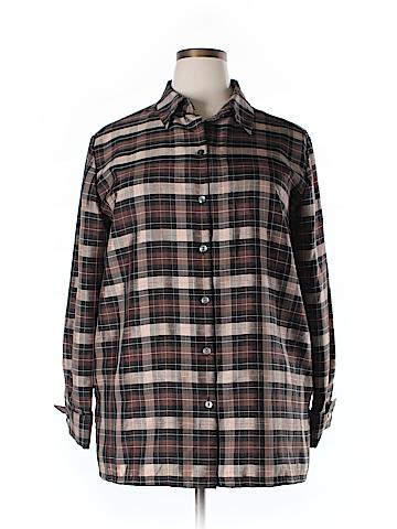 Sag Harbor Long Sleeve Button-Down Shirt Size 16