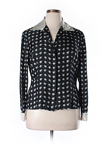 Jones New York Collection Long Sleeve Silk Top Size 14