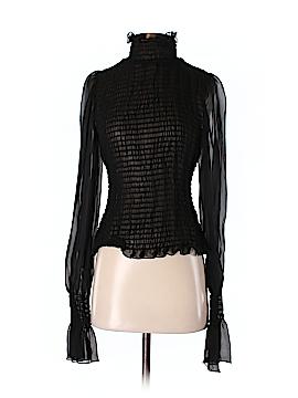 ABS Allen Schwartz Long Sleeve Silk Top Size M
