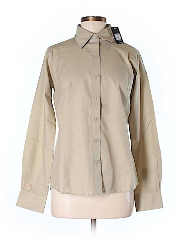 Antigua Long Sleeve Button-Down Shirt Size M