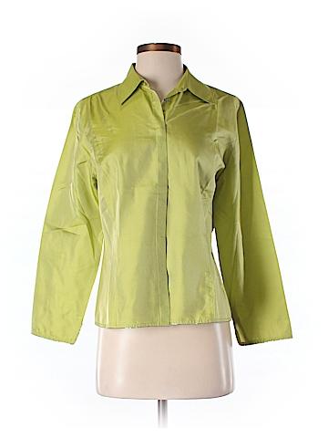 Ann Taylor LOFT Long Sleeve Silk Top Size 8