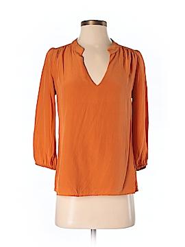 Amour Vert 3/4 Sleeve Silk Top Size S