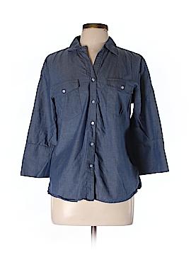 Ellen Tracy 3/4 Sleeve Button-Down Shirt Size L