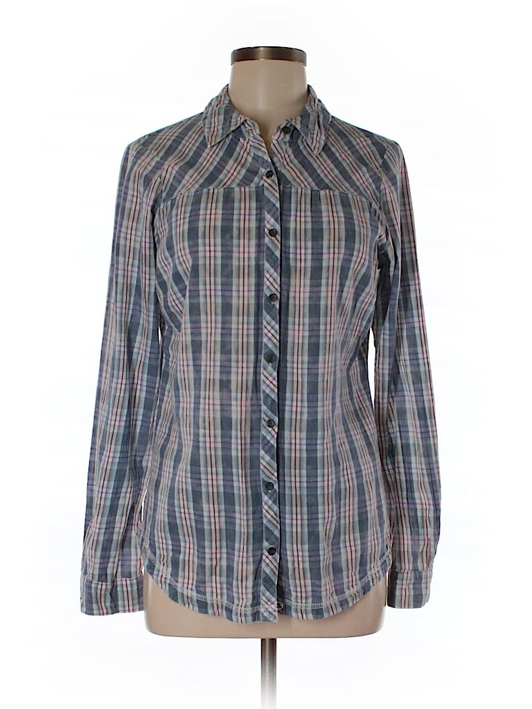 Maurices Women Long Sleeve Button-Down Shirt Size M