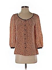 Odille Women 3/4 Sleeve Silk Top Size 0