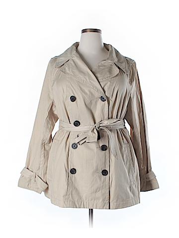 St. John's Bay Trenchcoat Size 2X (Plus)