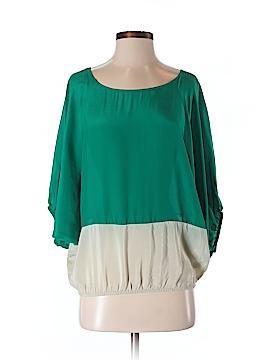 Sunday in Brooklyn 3/4 Sleeve Silk Top Size S