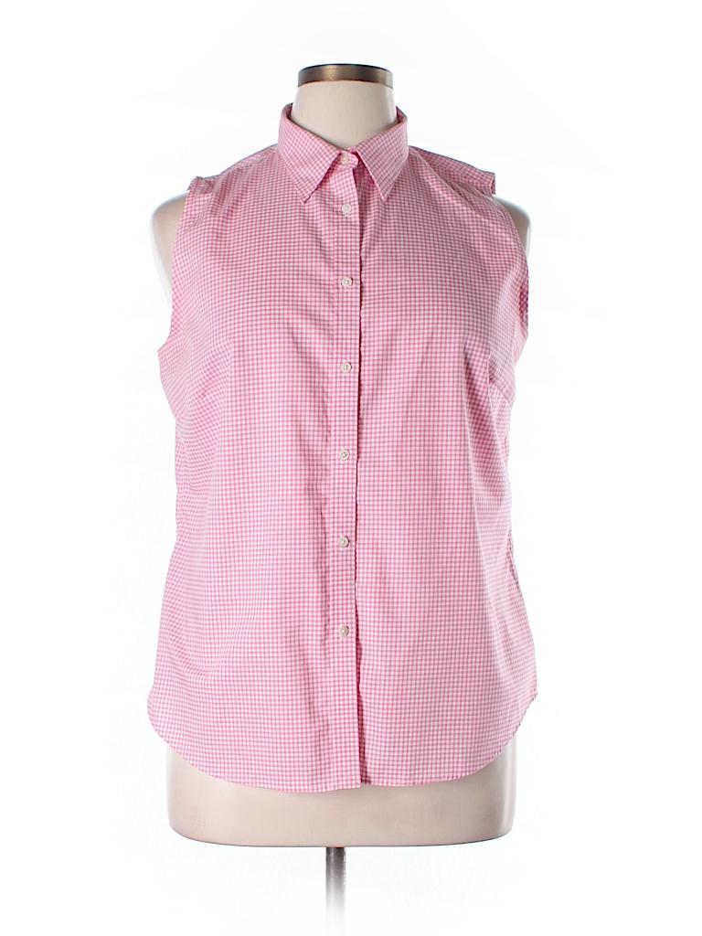 Lauren by ralph lauren sleeveless button down shirt 71 for Sleeveless cotton button down shirts