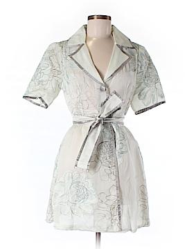 Arden B. Short Sleeve Silk Top Size M