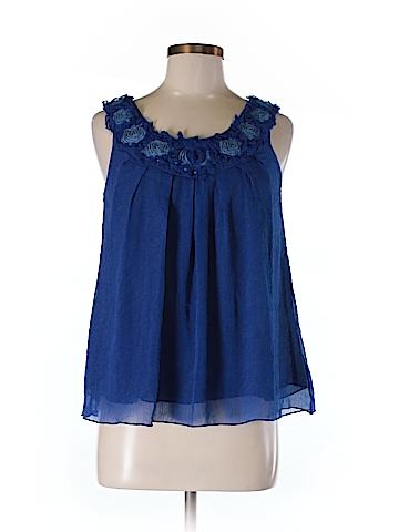 Poppy Garden Sleeveless Blouse Size S