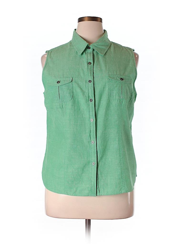 Croft barrow sleeveless button down shirt 54 off only for Sleeveless cotton button down shirts
